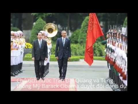 Vietnamese President Tran Dai Quang U.S. Presidents Obama hold talks
