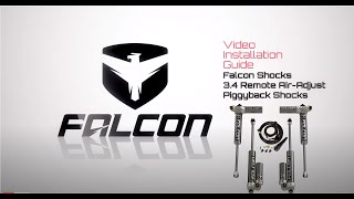 Falcon Shocks Install: 3.4 Remote Air Adjust Piggyback Shock