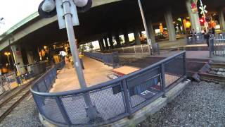 People illegally crossing Metro rail and Metrolink crossings