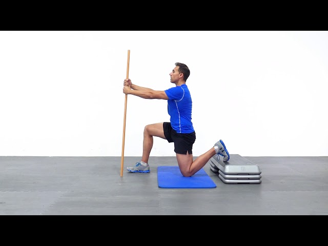 Rotación posterior de CADERA con pica y step