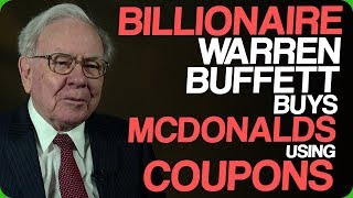 Billionaire Warren Buffett Buys McDonald's Using Coupons (Microwave Bacon)