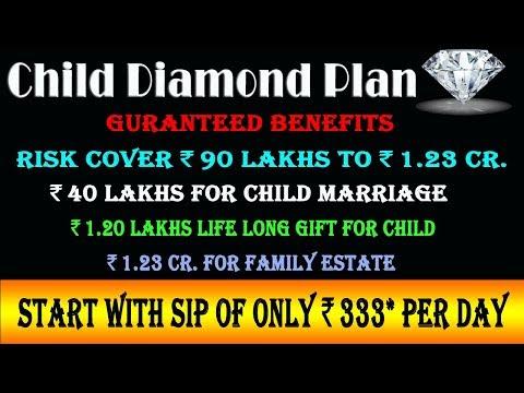 LIC Child Diamond Plan || एलआईसी चिल्ड्रन डायमंड प्लान || Best Plan || Child Security