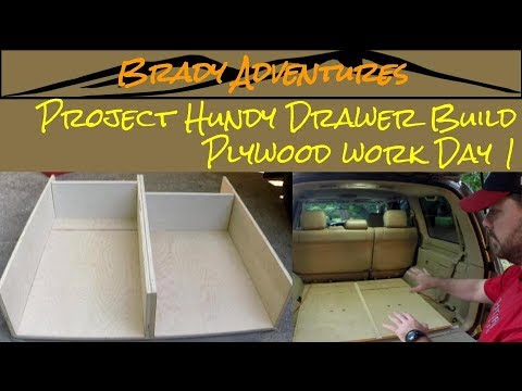 DIY Off Road 4x4 Drawer Build Plywood Work- Day 1