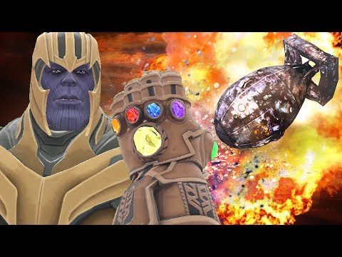 Can Thanos' INFINITY GAUNTLET Survive NUKES From HBombs In Gmod?