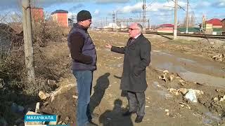 Новую улицу Махачкалы засыпали строительным мусором  11.01.18 г.
