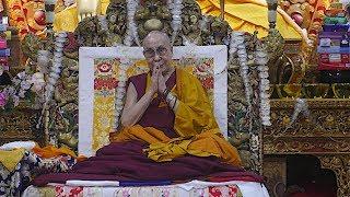 Former CTA staff offer 'tenshug' to the Dalai Lama