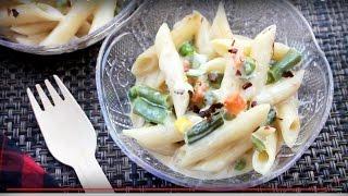 White Sauce Pasta   Bangladeshi Style Pasta Recipe   How To Make White Sauce Pasta
