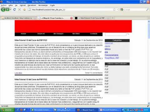 VideoTutorial 11 del Curso de PHP POO