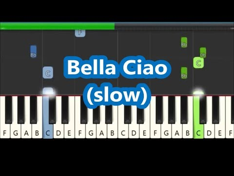 Bella Ciao Slow Piano Tutorial