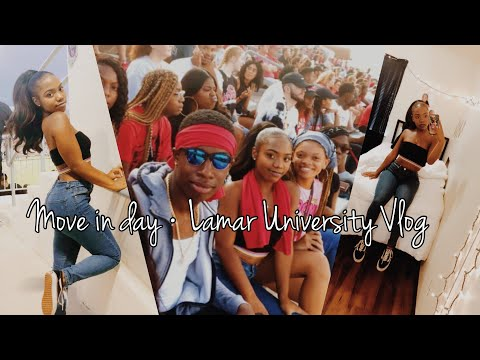 MOVE IN DAY + FIRST DAY OF COLLEGE VLOG | Lamar University
