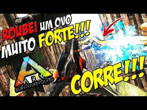 COOORRE!!! ROUBEI OVO DE DRAGAO LVL MUITO ALTO!!!   ARK VANILLA #14