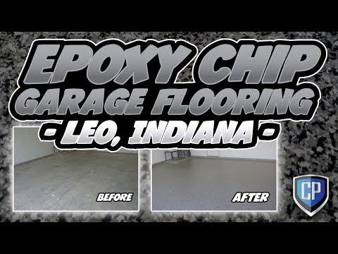 Epoxy Chip Garage Flooring - Leo Indiana