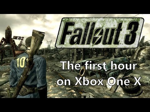 [4K] Fallout 3 the first hour on Xbox One X
