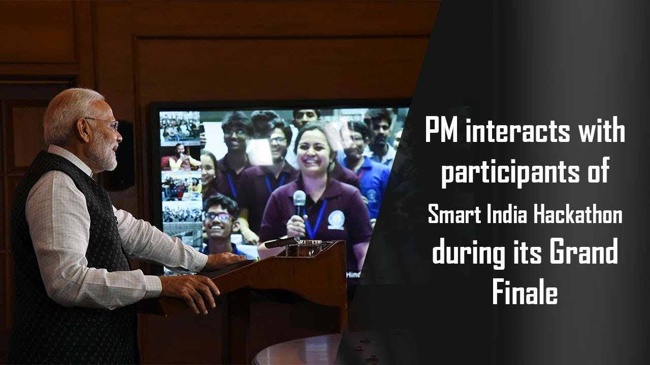 PM addresses Grand Finale of the Smart India Hackathon-2018