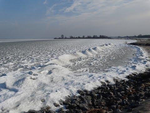 Winter in Amsterdam / IJburg met IJmeer, IJburgbaai, Steigereiland en Centrumeiland