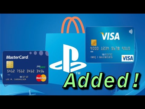 PLAYSTATION 4 HOW TO ADD A CREDITCARD/DEBITCARD