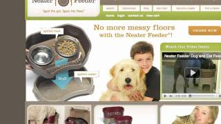 Award-winning Spill Proof Pet Bowls!!!  The Neater Feeder Has Arrived!