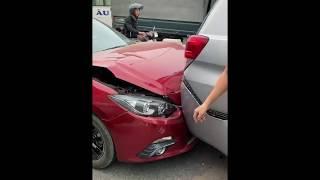 6 xe ô tô đâm nhau liên hoàn trên cầu Thanh Trì