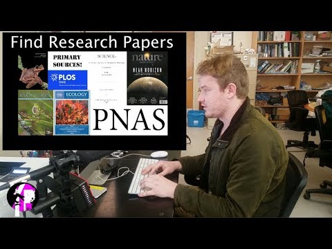 How to find a research paper or journal article ONLINE