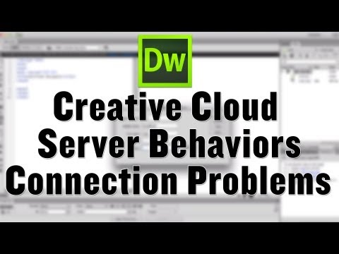Dreamweaver CC Server Behaviors Fix Connecting mySQL Server