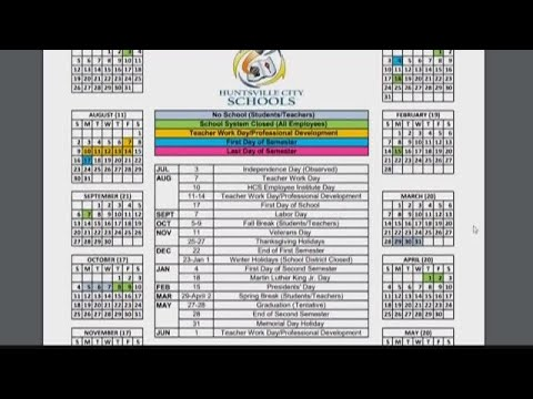 Huntsville City Schools Calendar 2022.Huntsville City Schools Asks Community To Vote For 2020 21 School Year Calendar Youtube
