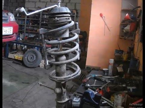 Шевроле Лачетти снятие стойки амортизатора и ремонт