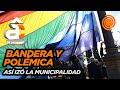 Así izaba la Municipalidad la bandera LGBT en el Parque Sarmiento