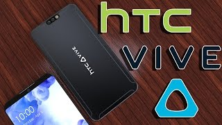 HTC Vive the Virtual Reality+AR Optimized Smartphone is here,Truly Button Less Design!!!