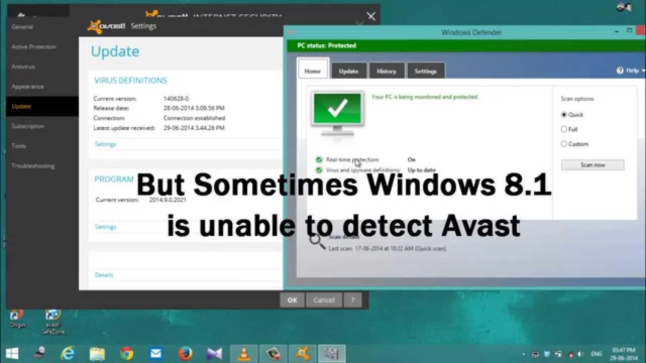 compare windows defender to avast