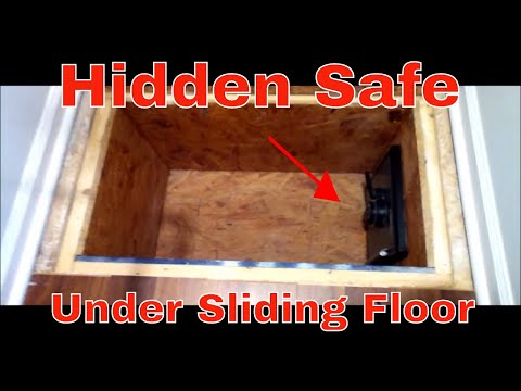 Very Cool Secret Hidden Safe Under Sliding Floor