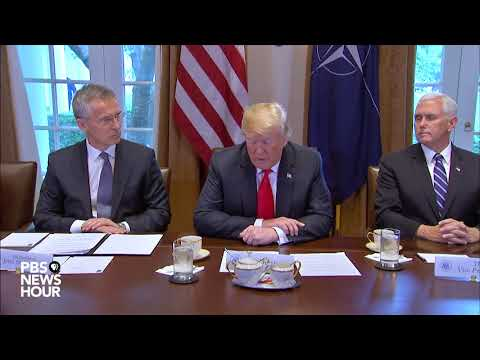 WATCH: President, Vice President And Cabinet Meet With NATO Secretary General