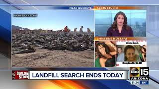 Phoenix police to end search of landfill for missing woman