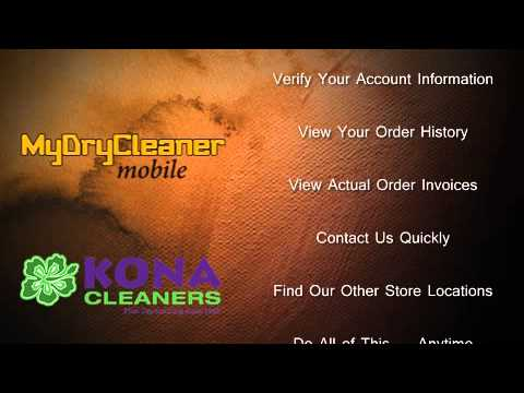 Kona Cleaners - My Dry Cleaner Mobile App - Intro