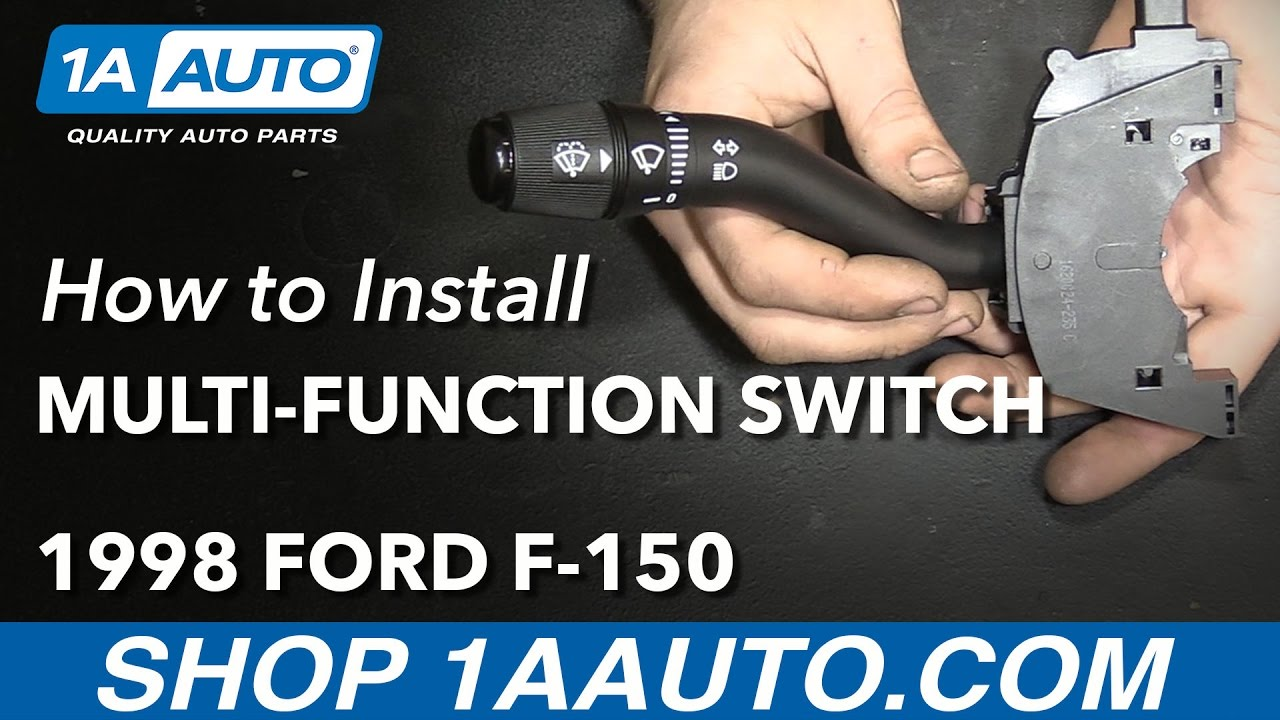 How To Replace Turn Signal Wiper Switch Lever 97 04 Ford F 150 Youtube For Diagram 1997 Wiring 350 Directonals