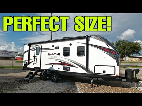 perfect-travel-trailer-rv-size-for-lower-capacity-towing-pickups!-heartland-north-trail-ultralite