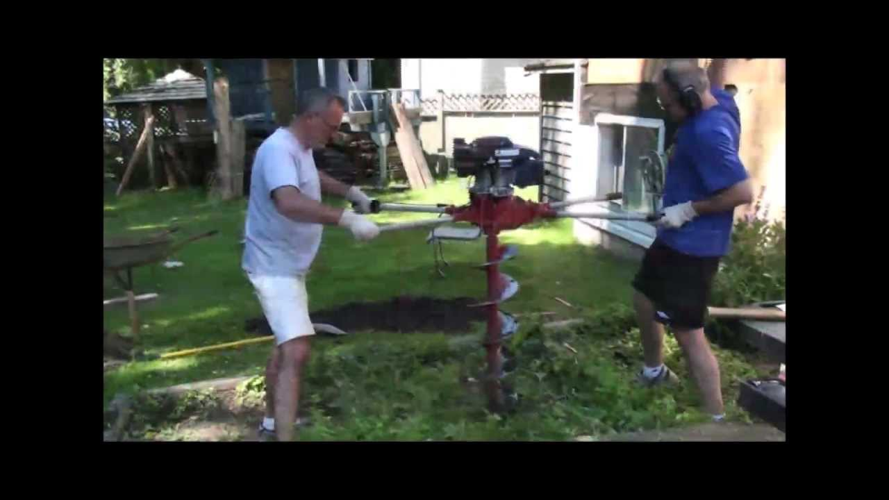 How To Use A Gas Powered Post Hole Digger Youtube