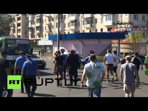 В Харькове активисты избили мужчину в футболке с надписью «СССР»
