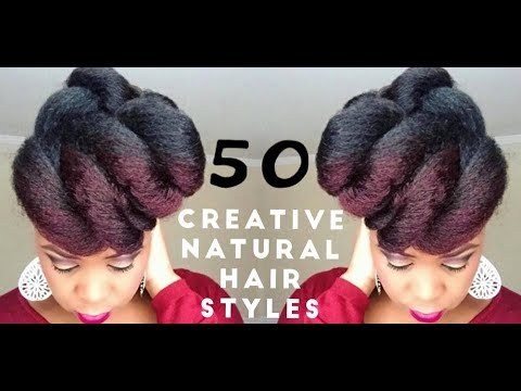 creative natural hairstyles