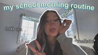 my REAL school morning routine