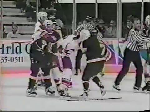 Greg Smyth vs Jiri Slegr & Mike Vernon vs Kirk McLean - Flames vs Canucks Brawl