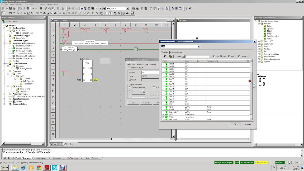 Trend Tool in Unity Pro by Modicon PlantStruxure Support