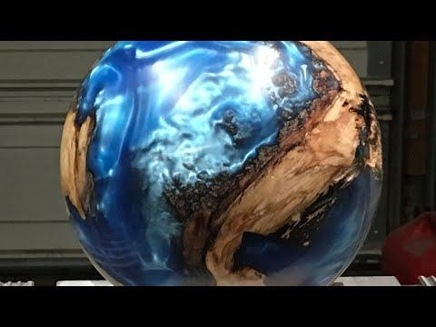 Habitable Planet wood and Resin hybrid sphere 2019