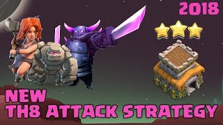 3 STAR EVERY TH8 BASE! NEW TH8 ATTACKS!  CoC Town Hall 8 War Strategy Guide   Clash of Clans