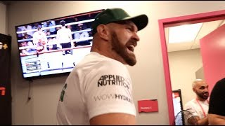 'F****** WELL DONE - CHIN UP!' - TYSON FURY TRIES TO LIFT ISAAC LOWE'S MOOD STRAIGHT AFTER HIS FIGHT