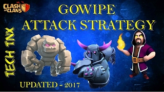 GOWIPE Attack Strategy updated-2017  | Easily get 3 stars on TH8 /TH9 |Clash of clans