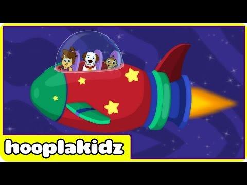 Zoom Zoom Zoom, We're Going to the Moon | Nursery Rhymes by Hooplakidz