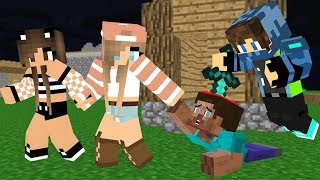 Monster School : Steav life vs Cute girl  Part ( I )- Minecraft Animation