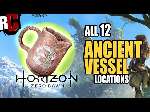 Horizon Zero Dawn - All Ancient Vessel Collectible Locations (All Ancient Vessels found Trophy)