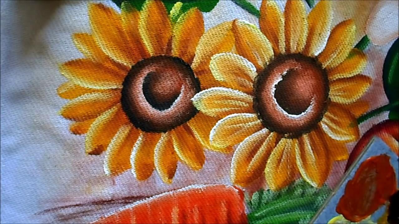 Aparador De Acrilico Transparente ~ como pintar girassol em tecido YouTube