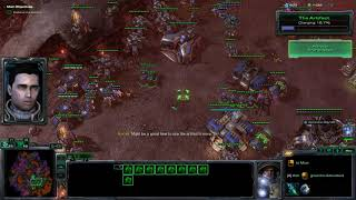 Starcraft II Wings of Liberty Campaign Brutal Walkthrough -All In (Ground)